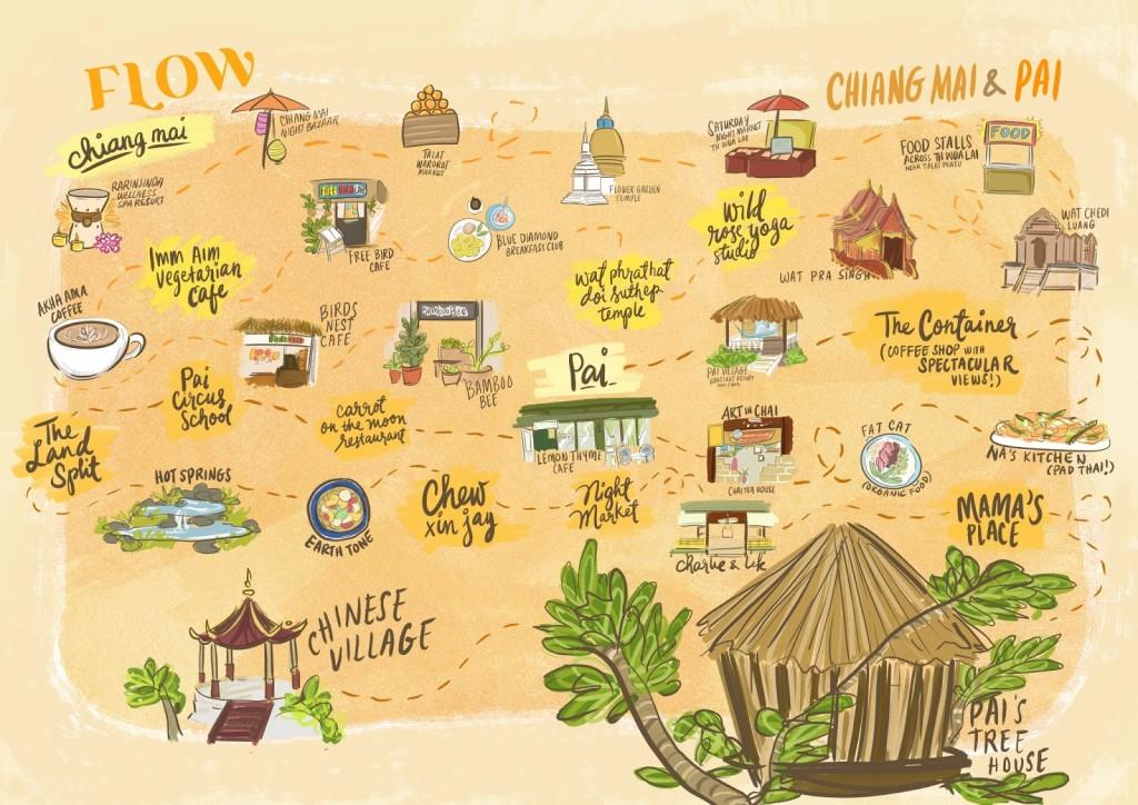 Chiang Mai & Pai Map