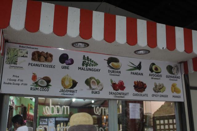 ice cream bohol bee farm panglao