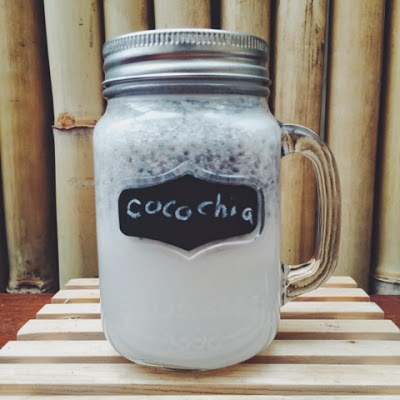coconut chia drink the flow blog