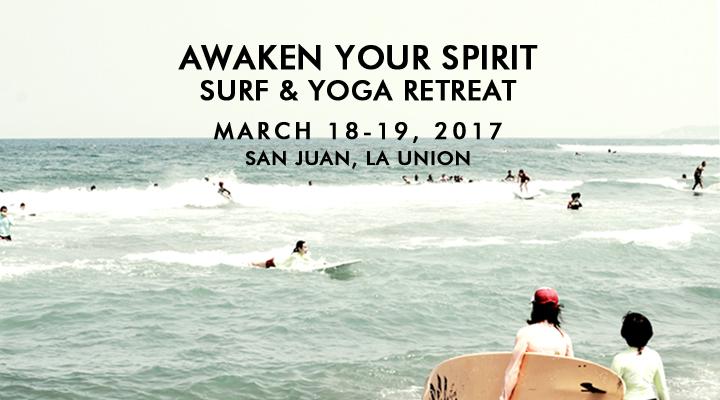 Awaken Your Spirit Surf & Yoga Retreat – March 18-19 – La Union