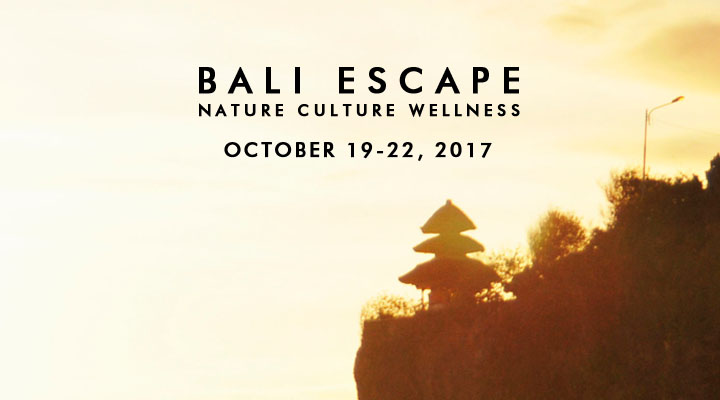 Bali Escape: Nature Culture Wellness – October 19-22
